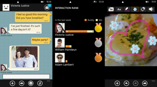 ChatON Screens 520x288 Samsungs ChatON messaging service comes to Windows Phone, now available on all mainstream platforms