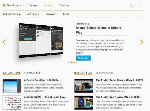 DAC Develop 520x385 Google redesigns its Android Developers site as part of ramp up to I/O