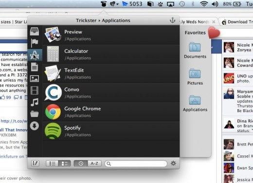 Trickster 520x377 Trickster for Mac helps you find all of your recently used apps and files