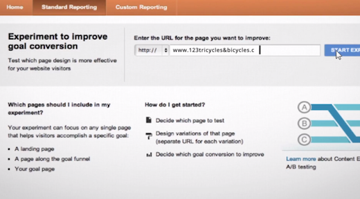 a1 Google Analytics adds Content Experiments to help you test the best layout for your site