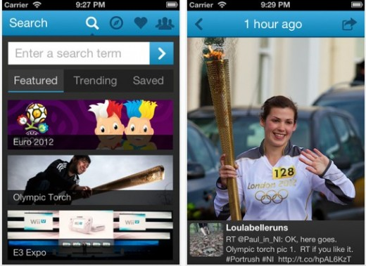 a4 520x379 SnapNests Twitter image search app goes pro, with new social, location and favorite features