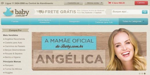 baby.com .br angêlica 520x262 Brazilian e commerce startup Baby.com.br closes $16.7m Series B round led by Accel Partners