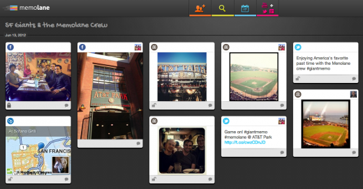 better SF Giants photo 520x271 Memolane now lets you collect and share social media memories from group adventures