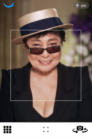 c3 Yoko Ono launches #smilesfilm app, a project to capture 7 billion smiles from around the world