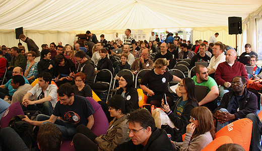 crowd The 5th annual Over the Air event marks the Alan Turing Centenary with creative code