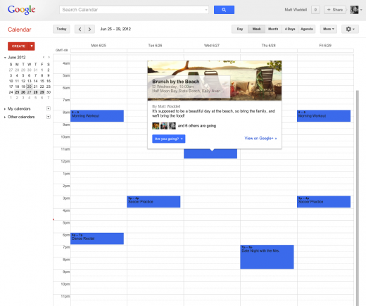 googlepluscalendar 520x435 Google+ announces Events feature that is active before, during and after your party