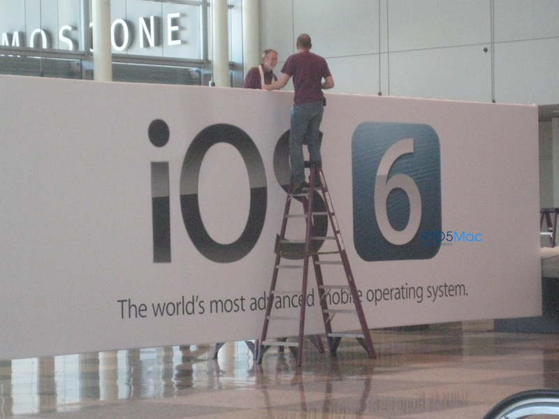 Banners at Moscone confirm that iOS 6 is coming next week at WWDC