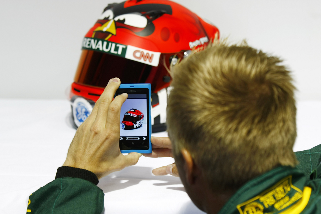 Rovio's Angry Birds Heikki exits the pit lane, offering 12 Formula 1 themed levels