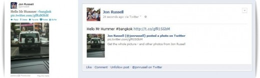hello hummer2 horz1 520x157 Twitter: Yes, weve added photos, hashtags, usernames and more to our Facebook integration
