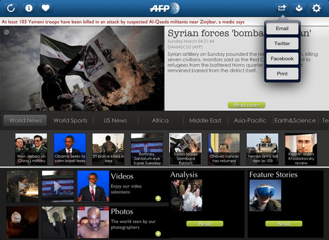 iPadAppAFP AFP opens its iPad app to the Middle East and beyond with new Arabic edition