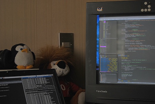 FTW – This is how Linux programmers rock their babies to sleep (video)