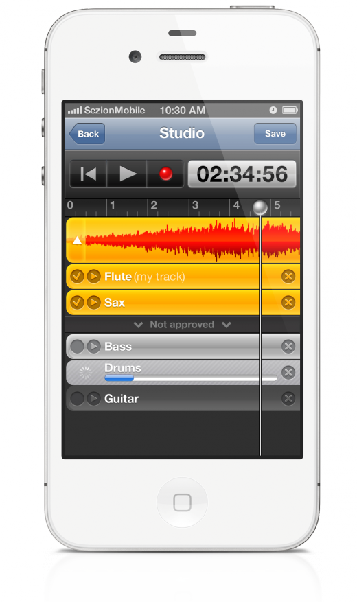 sezion studio 2 520x877 Sezion lets anyone collaborate on a song, could be the Instagram for amateur musicians