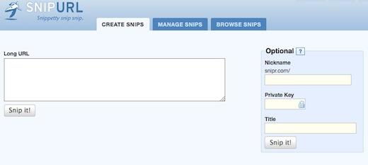 Snipurl URL shortener