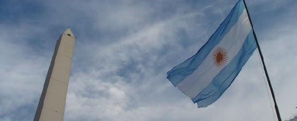 the obelisk and the Argentinian flag