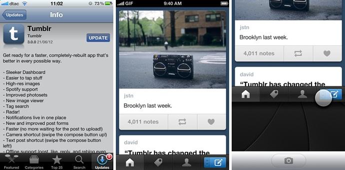 Tumblr Releases Revamped iOS App Version 3 0 0