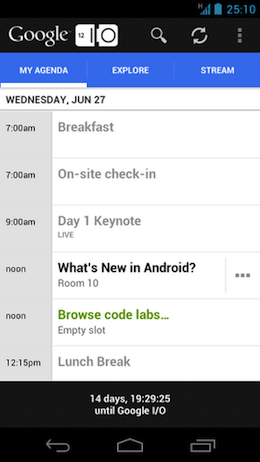 unnamed1 The Google I/O 2012 Android app is live, grab it for live streaming, maps and scheduling now