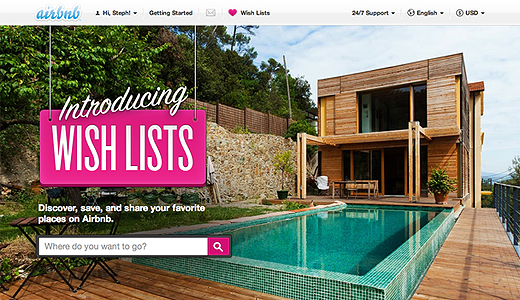 wishlists Airbnb launches Wish Lists for bookmarking all of the places youd like to stay