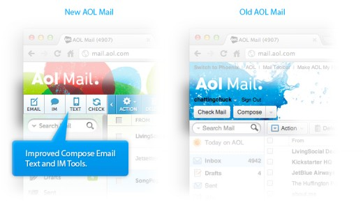 AOL updated message tools 520x310 AOL Mail gets a refresh, thinks it can add you as one of its over 24M monthly active users