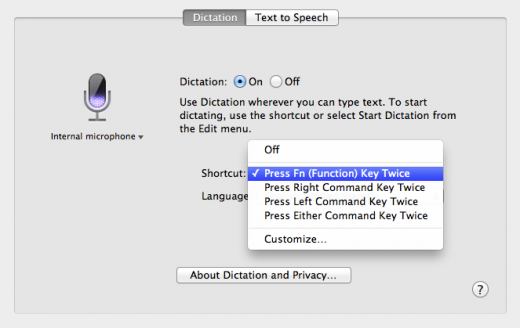 Dictation Control pane 520x328 TNW Review: OS X 10.8 Mountain Lion