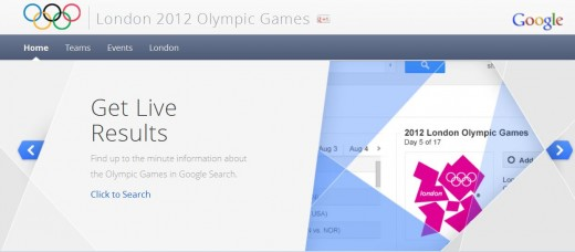 GOLYMPICS 520x228 Google launches online London Olympics hub, reeling in content from across all its products