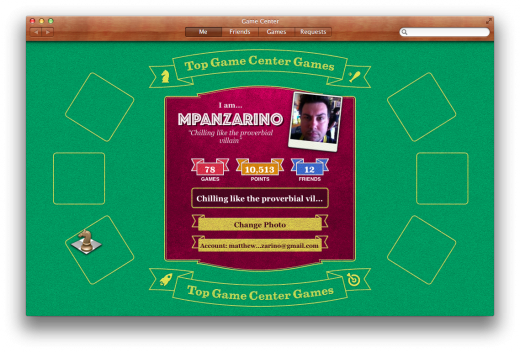Game Center Profile 520x352 TNW Review: OS X 10.8 Mountain Lion