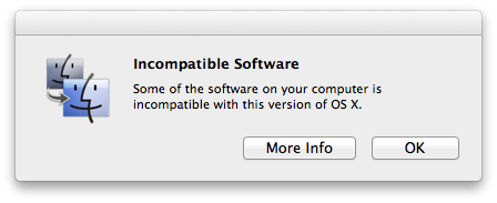 Incompatible software TNW Review: OS X 10.8 Mountain Lion