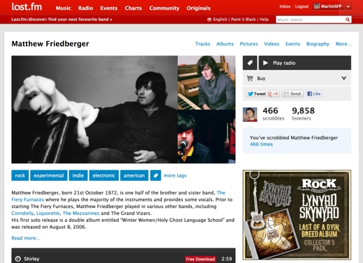 Lastfm redesign Last.fm is testing a subtle but tasty redesign [Screenshots]