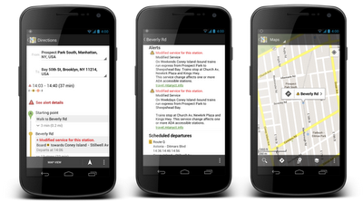 NY Transit Mobile  Google Maps strengthens its transit offerings, adds planned subway changes in NYC