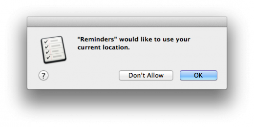Reminders Location Permission 520x260 TNW Review: OS X 10.8 Mountain Lion
