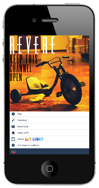 Revere artist page m2t Music2Text launches out of beta to help artists spread their music via SMS