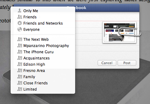 Safari Sharing Facebook Integration TNW Review: OS X 10.8 Mountain Lion