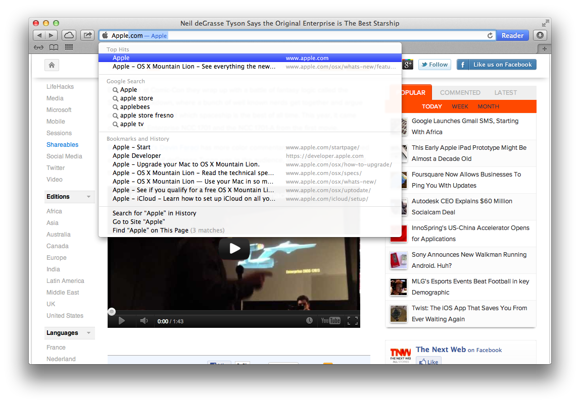 Safari 6.0: The Best Version of Apple's Browser Yet