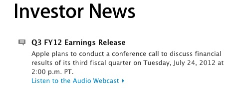 Screen Shot 2012 07 02 at 2.51.40 PM Apple announcing Q3 2012 earnings on Tuesday, July 24th