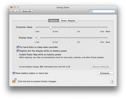 Screen Shot 2012 07 25 at 4.24 Apple firmware update gives Retina MacBook Pros the Power Nap support theyve been missing