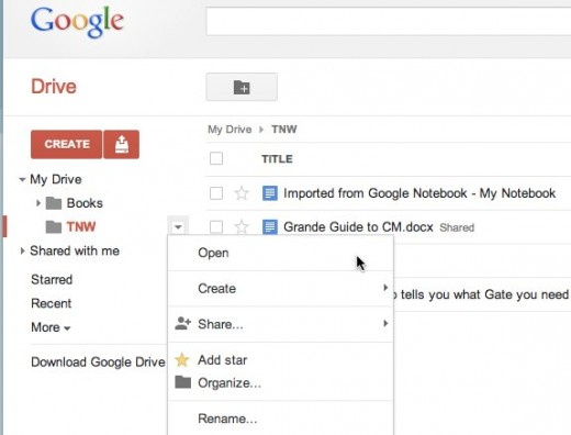 TNW Google Drive 520x396 Google Drive tip: View an entire folders worth of documents and switch between them