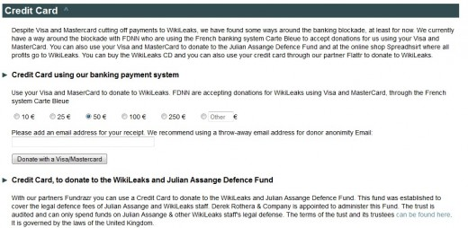 WikileaksFunding 520x254 With funds diminishing, WikiLeaks taps French payment gateway to reopen public donations