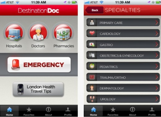 a11 520x378 DestinationDoc: This app is a pocket compendium of medical professionals for your stay in London