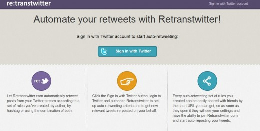 a6 520x263 RetransTwitter: This Web app lets you auto retweet your favorite Twitter accounts