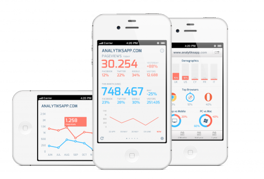 analytiks2 white all 520x353 The best Google Analytics app, Analytiks for iOS, just got better with version 2