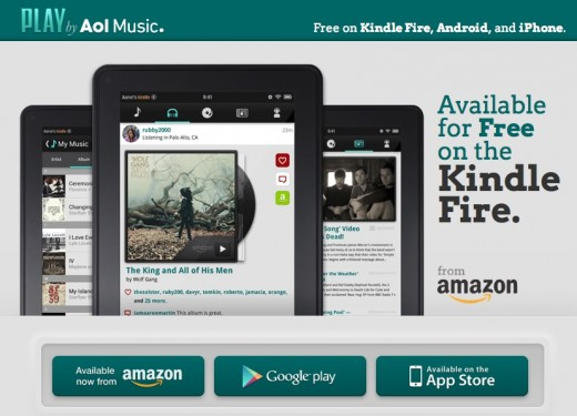 aol play 520x375 AOLs music app PLAY lands on the Kindle Fire