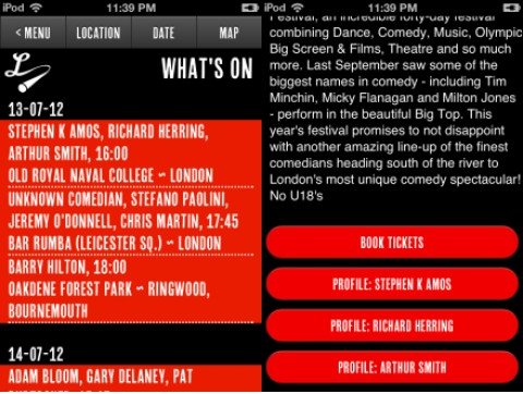 c2 Laugh Louder: This iOS app helps you search for live comedy shows around the UK