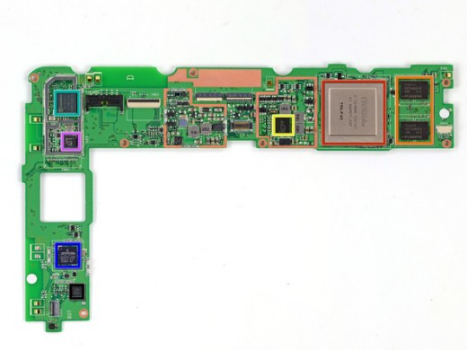 cXraFOHXUWIItNnO 520x390 Googles Nexus 7 gets an iFixit teardown, ranks high on the repairability scale