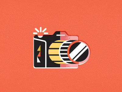 camera dribbble 21 Gorgeous film logos and icons for your design inspiration