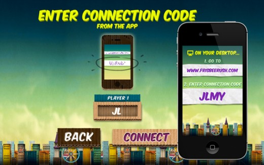 code screen 520x325 Frisbee Rush transforms your smartphone into a controller for a desktop browser game