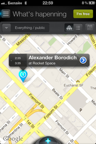 glompercom Map Glomper FreeTime: This social networking app helps you hook up with friends at short notice