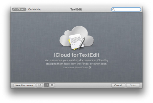 iCloud For Textedit 520x353 TNW Review: OS X 10.8 Mountain Lion