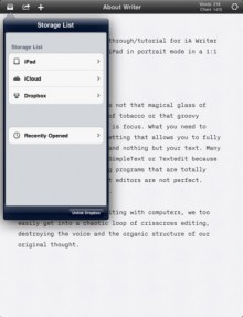 iawriter1 220x287 10 incredible iPad apps for education