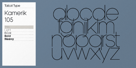 kamerik 30 new typefaces released last month that you need to know about (July)