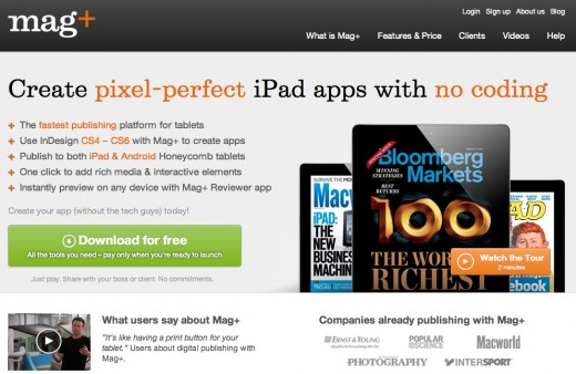 magplus 520x338 Digital publishing platform Mag+ now lets designers adapt to multiple devices at once