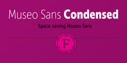 museo sans condensed 30 new typefaces released last month that you need to know about (July)
